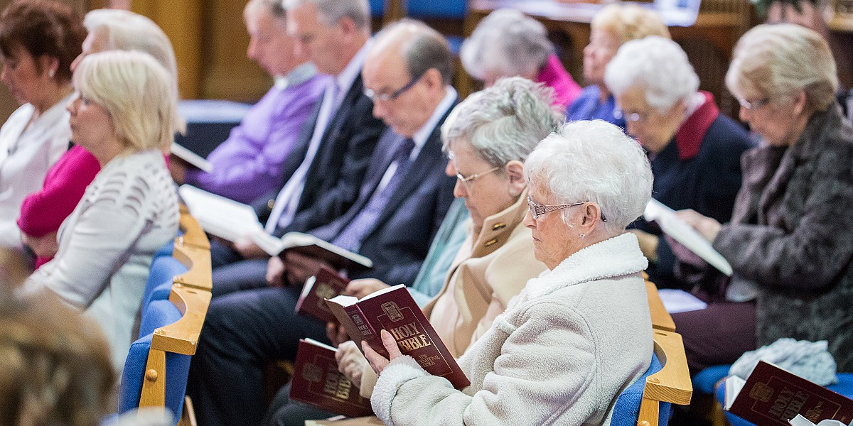 Congregation Reading the Bible